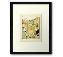 The Buckle My Shoe Picture Book by Walter Crane 1910 20 - Nine Ten A Goad Fat Hen Framed Print