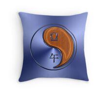 Libra & Horse Yang Wood Throw Pillow