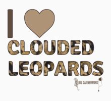 I Love Clouded Leopards One Piece - Short Sleeve