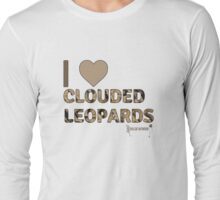 I Love Clouded Leopards Long Sleeve T-Shirt