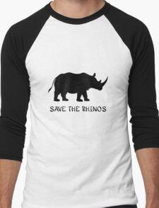 Save the Rhinos Men's Baseball ¾ T-Shirt