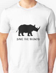 Save the Rhinos Unisex T-Shirt