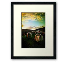 Sundown Achill Framed Print