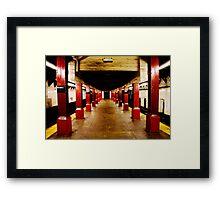 Underground Matrix Framed Print
