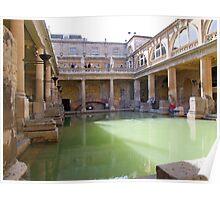 Roman Baths, Bath, England Poster