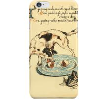 The Buckle My Shoe Picture Book by Walter Crane 1910 40 - A Gaping Wide Mouth Waddling frog iPhone Case/Skin