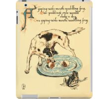 The Buckle My Shoe Picture Book by Walter Crane 1910 40 - A Gaping Wide Mouth Waddling frog iPad Case/Skin