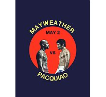 Mayweather vs Pacquiao Photographic Print