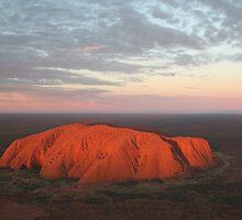Blue Moon Rising over Uluru3 by Jocelyn Pride