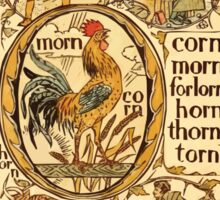 The Golden Primer by John Miller Dow, Illustrated by Walter Crane 1884 30 - Corn Morn Forlorn Horn Thorn Torn Sticker