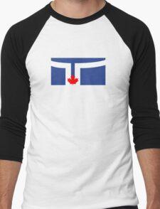 Flag of Toronto  Men's Baseball ¾ T-Shirt
