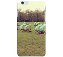 Deck chairs in London iPhone Case/Skin