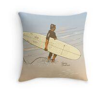 Torquay shorebreak Throw Pillow