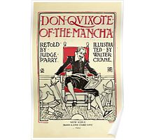 Don Quixote of the Mancha retold by Judge Parry Illustrated by Walter Crane 1920 9 - Interior Title Plate Poster