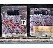 Old Garage Doors - Somebody Lives Here Photographic Print