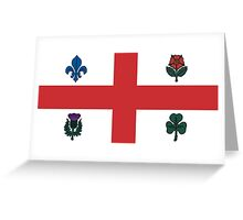 Flag of Montreal  Greeting Card