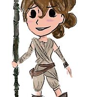 Star Wars The Force Awakens Rey by leahkatewrite