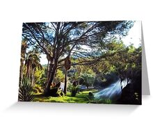 welcome to the world rich surrealism landscape Greeting Card