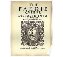 Spenser's Faerie queene A poem in six books with the fragment Mutabilitie Ed by Thomas J Wise, pictured by Walter Crane 1895 V1 74 - Title Plate Poster
