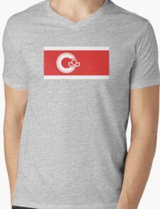 Flag of Calgary  Mens V-Neck T-Shirt