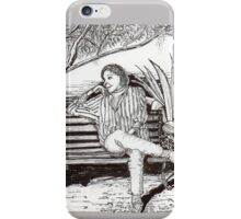 Waiting for her lover in Tucson, Arizona iPhone Case/Skin
