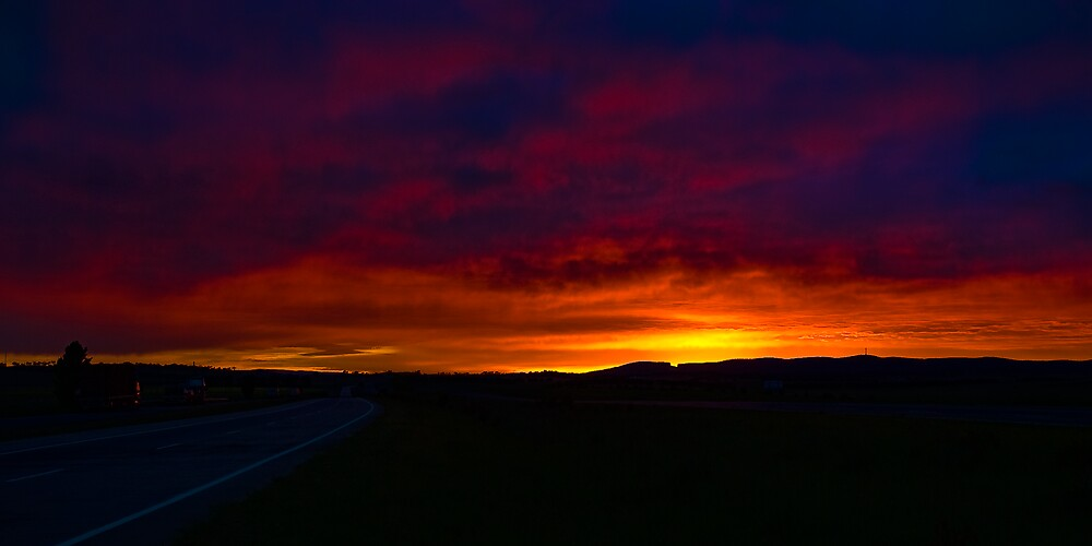 A Hume Highway Sunrise by Jason Ruth