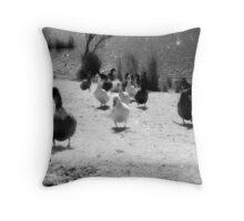 Ducks at Wentworth Falls Lake Throw Pillow