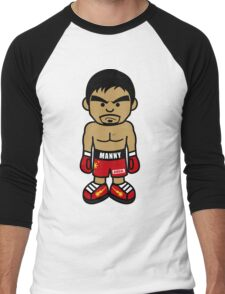 Angry Manny Pacquiao Cartoon by AiReal Apparel Men's Baseball ¾ T-Shirt