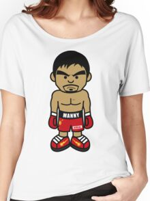 Angry Manny Pacquiao Cartoon by AiReal Apparel Women's Relaxed Fit T-Shirt