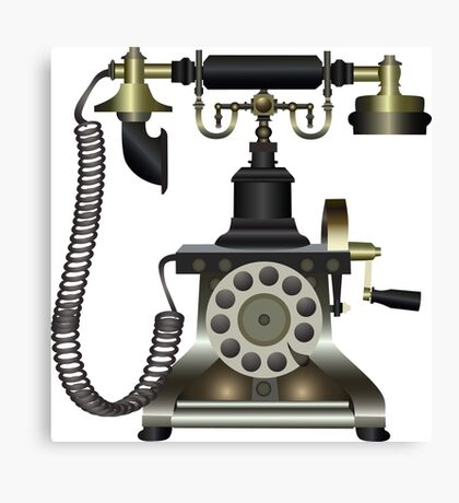 retro phone Canvas Print