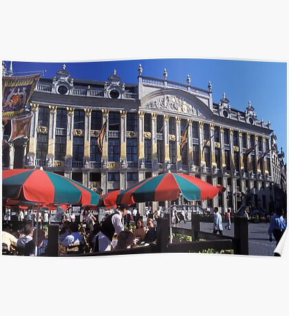 Belgium. Brussels. Grand Place. Poster
