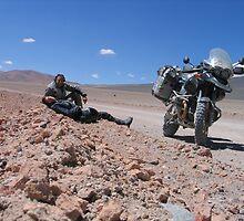Atacama Desert Self Portrait by Grant Forbes