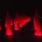 Fire Lake At Night by brotheroutsider