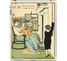 The Buckle My Shoe Picture Book by Walter Crane 1910 22 - Eleven Twelve Ring the Bell iPad Case/Skin