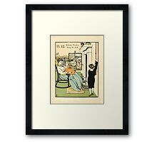 The Buckle My Shoe Picture Book by Walter Crane 1910 22 - Eleven Twelve Ring the Bell Framed Print