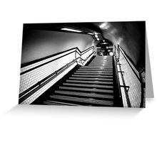 Exit in black and white Greeting Card
