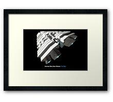 8 Bit Pixel Spaceship Leviathan Class Space Carrier - The Duke Framed Print