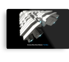 8 Bit Pixel Spaceship Leviathan Class Space Carrier - The Duke Metal Print