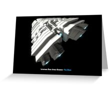 8 Bit Pixel Spaceship Leviathan Class Space Carrier - The Duke Greeting Card