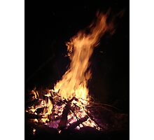 The horse head and the calf head in the  Fire see it? Photographic Print
