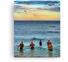 Dawn Swimmers Canvas Print