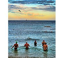 Dawn Swimmers Photographic Print