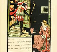 Cinderella Picture Book containing Cinderella, Puss in Boots, and Valentine and Orson Illustrated by Walter Crane 1911 51 - The Green Knight by wetdryvac