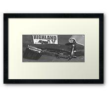 top gun Framed Print