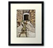 Ammo trollies! Bateria de Cenizas, Costa Calida, Spain  Framed Print