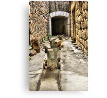 Ammo trollies! Bateria de Cenizas, Costa Calida, Spain  Canvas Print