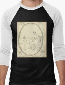 The Buckle My Shoe Picture Book by Walter Crane 1910 61 - Mid Plate Two Men's Baseball ¾ T-Shirt