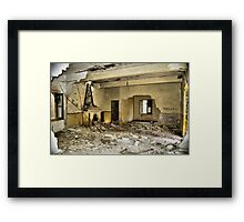 Mess Room? Bateria de Cenizas, Costa Calida, Spain  Framed Print