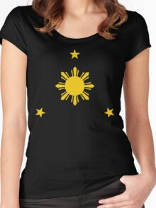 Philippines Sun & Stars by AiReal Apparel Women's Fitted Scoop T-Shirt