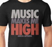 Music Makes Me High by AiReal Apparel Unisex T-Shirt